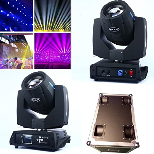 2Pcs/lot DMX 16/20 Channels 7R Colorful Sharpy Beam 230W Moving Head Light Black For Birthday DJ Disco KTV Bar Event Party Show (2Pcs)