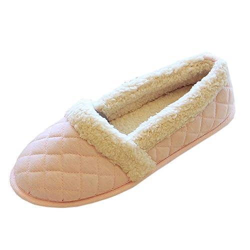 uirend Scarpe Pantofole Donna - Pantofole Invernali Donna Pantofole Scarpe  Inverno All aperto Interno Caldo Peluche Chiuse  Amazon.it  Scarpe e borse eb9e14e5986