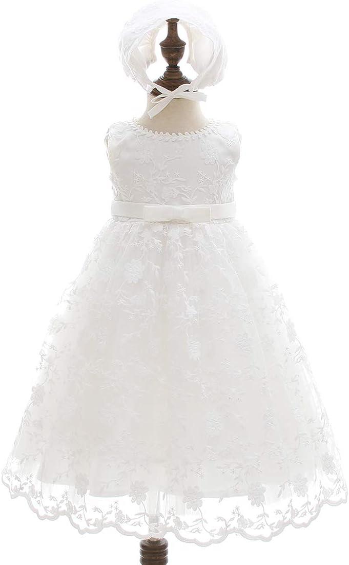 AHAHA Baby Girl Bautizo Bautismo Largo Hueco Vestido de Estilo Princesa de la Boda Vestidos Formales