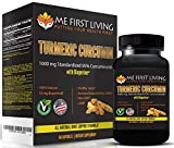Me First Living Premium Turmeric Curcumin 1000mg of 95% Curcuminoid With Black Pepper as Bioperine 10mg, 19x More Potent Than Others, Increased Bioavailability, Vegan, Gluten Free, 60 Capsules