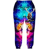 SUNY Unisex Hipster Galaxy Space Clothes Sweatpants joggers Sportswear Casual Pants