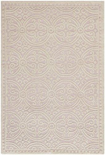Safavieh Cambridge Collection CAM123M Handmade Moroccan Geometric Light Pink and Ivory Premium Wool Area Rug (4' x 6')