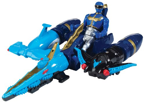 Power Rangers Megaforce Sea Brothers Zord Vehicle and Blue Ranger ()