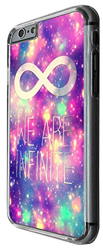 1413 - Cool Fun Trendy cute kwaii we are infinate infinity space out sky universe Design iphone 5C Coque Fashion Trend Case Coque Protection Cover plastique et métal - Clear