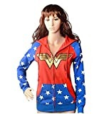 GDreamer WW9 Wonder Woman Teen Adult Hoodie Costume for Halloween Cosplay Party S-XL