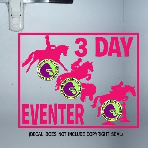 3 DAY EVENTING HORSES ON BOARD Caution Trailer Vinyl Decal Sticker C