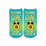 Sublime Designs SD06-PUN-GUC Guacamole Pun No-Show Socks