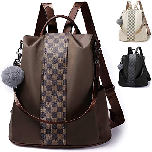 Meannic Women Backpack Purse Waterproof Nylon Anti-theft Rucksack - Shoulder Bag
