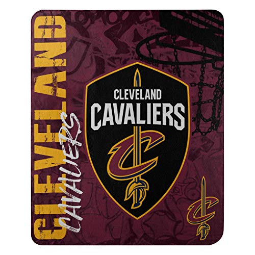 Cleveland Blanket - The Northwest Company NBA Cleveland Cavaliers Hard Knocks Printed Fleece Throw, 50-inch by 60-inch, Yellow