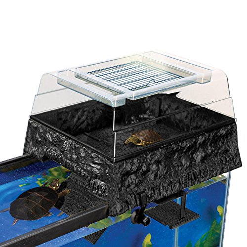 Penn Plax Turtle Tank Topper – Above-Tank Basking Platform for Turtle Aquariums, 17 x 14 x 10 Inches (Filtration Turtle Tank)