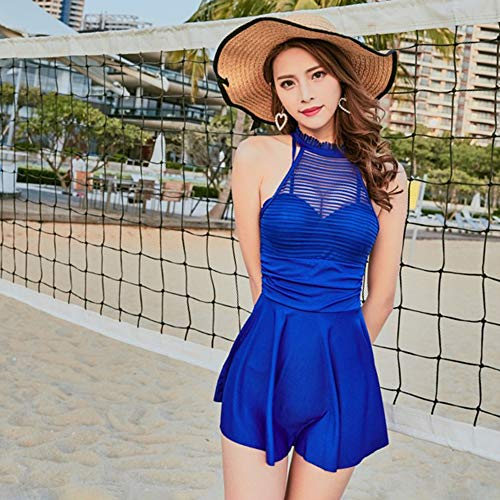 Blu Tankini Bagno Reale Costume Da Donna Leggero Bozevon Swimdress Per q8Swa