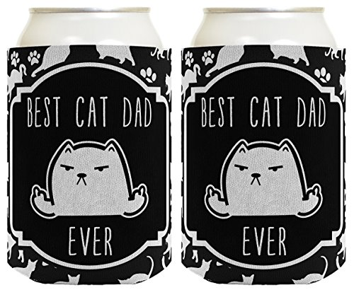 Costume Fat Cat Guy In (Cat Gifts for Cat Lovers Best Cat Dad Ever Rude Middle Finger Cat Flipping Off Cat Lover Gifts Cat Memes Crazy Cat Guy Gifts Cat Gag Gifts 2 Pack Can)