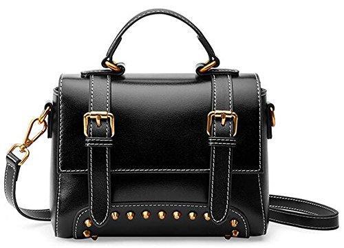 cuir Black Sac sac Sac cuir petite en rétro XinMaoYuan à bandoulière femme Femme Messenger pour main style Mobile en place BnHqI