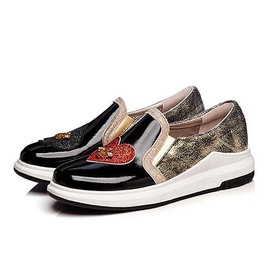 Las Mujeres De Charol Glitter Bling Casual Mocasines Primavera OtoñO ResbalóN En El CorazóN Abeja DecoracióN Pisos Zapatos De Plataforma: Amazon.es: Zapatos ...