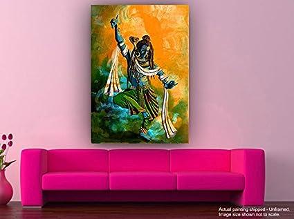 Tamatina Canvas Paintings - Shiva Tandava II - Lord Shiva Paintings ...