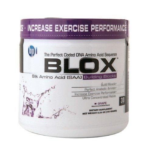 BPI BLOX Шелковый аминокислот (SAA) Строительные блоки, виноград-5 унций (150 г)