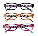 3 Pack Women's Reading Glasses 6.00X