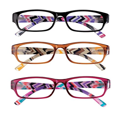 3 Pack Women's Reading Glasses 6.00X by EasyComforts