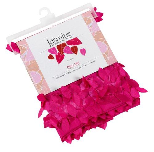"""Jasmine"" Fabric Shower Curtain, Raspberry"