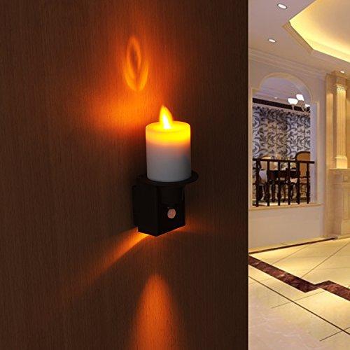 LED PIR Sensor Flameless Candle Night Light With Battery-Powered Motion-Sensing LED Stick-Anywhere Nightlight - Firearm Lamp