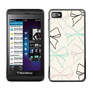 Design for Girls Plastic Cover Case FOR Blackberry Z10 Beige Teal Gift Girly Cute Sweet OBBA