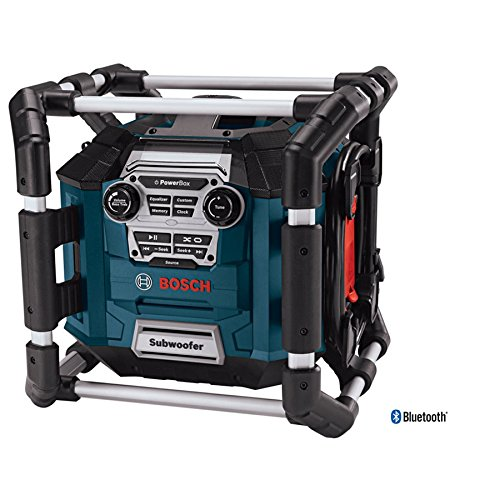 (Bosch Bluetooth Power Box Jobsite AM/FM Radio/Charger/Digital Media Stereo)
