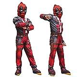 GradPlaza Children Deadpool Cosplay Halloween Costume Kids Superman Roleplay Set