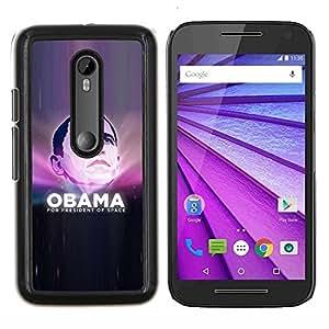 """Be-Star Único Patrón Plástico Duro Fundas Cover Cubre Hard Case Cover Para Motorola Moto G (3rd gen) / G3 ( Universo presidente Obama Espacio Divertido"""" )"""