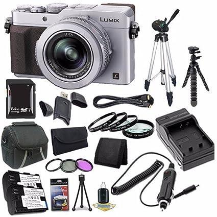 Amazon com : Panasonic LUMIX LX100 12 8 MP Digital Camera (Silver) +