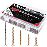 Hilitchi 250-Pcs #7 Phillips Bugle Head Coarse Thread Drywall Screw Assortment Kit, Carbon Steel Zinc Plated, Ideal Screw for Drywall Sheetrock, Wood, and More