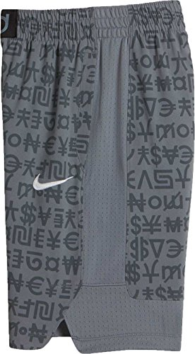 Nike Boys' Flex KD Elite Basketball Shorts (Medium, Dark Grey (021) / Cool Grey/Cool Grey)