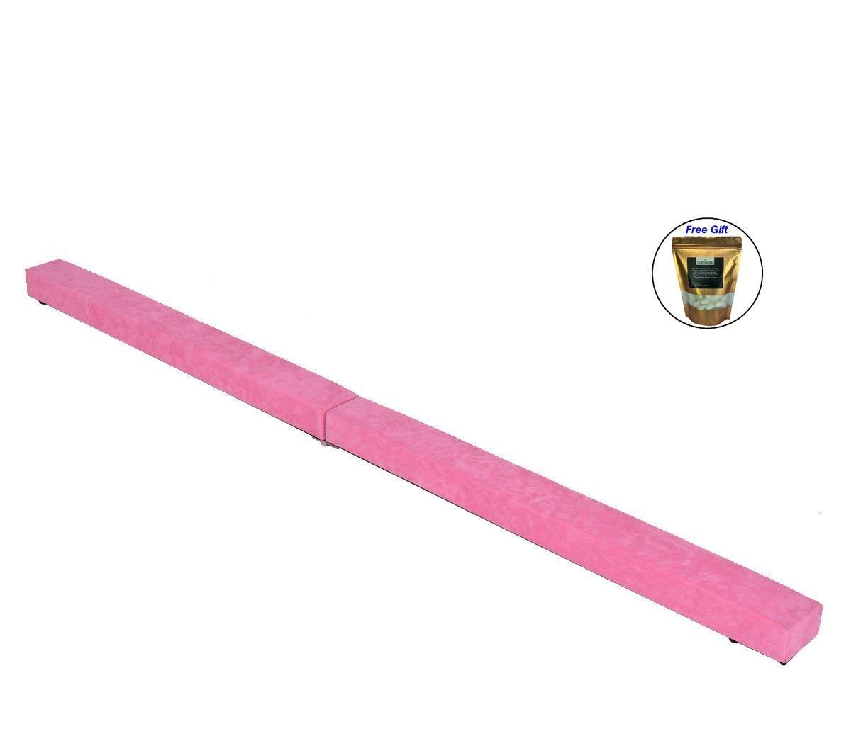 7 ' Sectional体操床バランスビームスキルパフォーマンストレーニングFolding – ピンク B079FMSY36