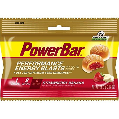 PowerBar Performance Energy Blasts - 12 Pack - STRAWBERRY BANANA - 60.3g Gel Strawberry Banana