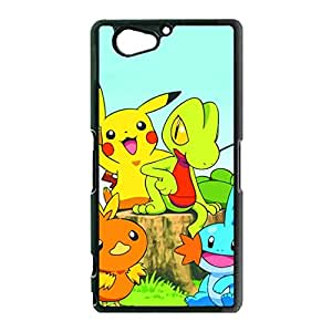 Fun Cartoon Style Pocket Monster Pikachu Cell Phone Case Sony Xperia Z2 Compact Original Cover Case with Creative Pocket Monster Pikachu Anime Element