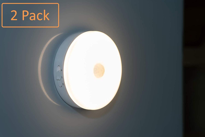 [2Pack] Wireless Pantry Lights Closet Lighting Motion Sensor Lights Rechargeable Night Lights, Automatic Under Cabinet Lights Showcase Lighting Bathroom Lights Stairwell Lights 120 Lumen 3000k