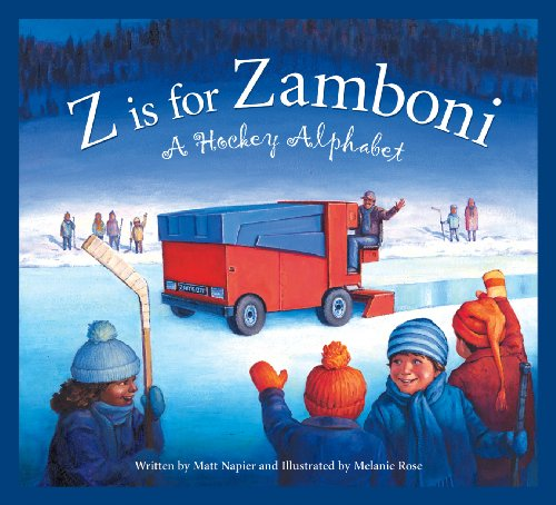 Hockey Art Detroit Red Wings - Z is for Zamboni: A Hockey Alphabet (Sports Alphabet)