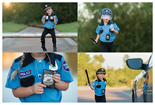 Dress-Up-America-Pretend-Play-Police-Badge-With-Chain-And-Belt-Clip
