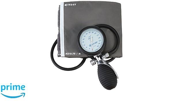 Spengler Lian - Tensiómetro manual con brazalete para adultos (velcro, nailon, talla M), color gris: Amazon.es: Salud y cuidado personal