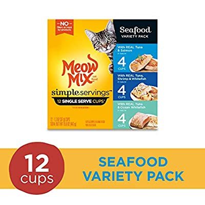 Cat Food Meow Mix Simple Servings Wet Cat Food, 1.3 Ounce Cups [tag]