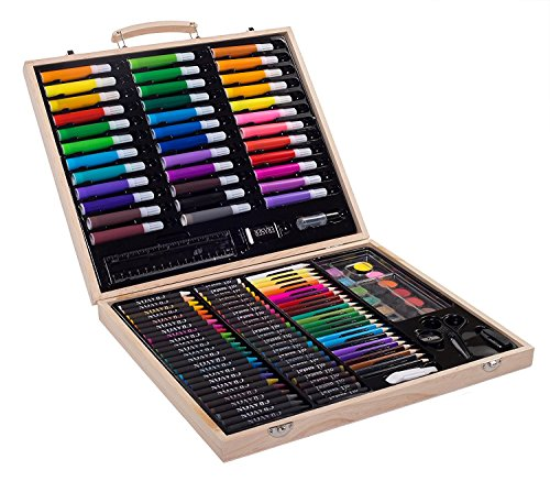 Sunrise Portable Art Set. 131-Piece With Wood (Portable Art)