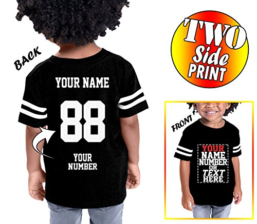 Number Toddler Jersey T-shirt - Custom Cotton Jerseys for Toddlers and Kids - Make Your OWN Casual Outfit