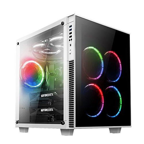 18 opinioni per anidees AI-CL-Cube-W-RGB Cubo Case per PC ATX Torre Mid compatibile con E-ATX,