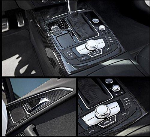 "12x60/"" 5D Car Black Sticker Carbon Fiber Vinyl Ultra Shiny Gloss Glossy Wrap DIY"