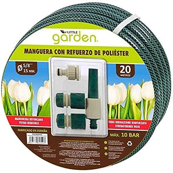 LITTLE GARDEN BY01090260302 - Manguera, 20 m, Color Verde: Amazon.es: Jardín