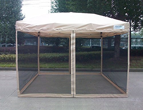 """This gazebo offers 6'6""""x6'6"""" of shade that is ideal for small backyard  spaces or on-the-go protection from the sun and elements. Thanks to a  special silver ... - Gazebo Buying Guide - The 50 Best Gazebos For Your Backyard In 2017"""