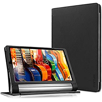 Lenovo Yoga Tab 3 Plus/Lenovo Yoga Tab 3 Pro 10 Case - Infiland Folio Premium PU Leather Stand Cover Fit for Lenovo Yoga Tab 3 Plus 10.1/ Lenovo Yoga ...