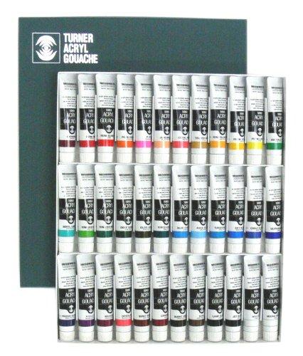 Turner Colour Works Ag02036c Turner Acryl Gouache Matte Acrylics Set Of 36 20 Ml Tubes Shop