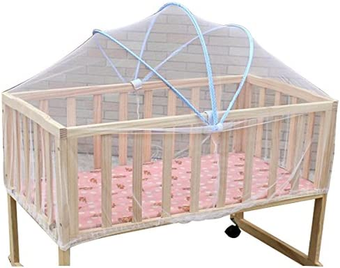 R Summer White Safe Baby Mosquito Nets Cradle Bed Canopy Mosquito Net Toddlers Crib Cot Netting Bedroom Accessories TOOGOO