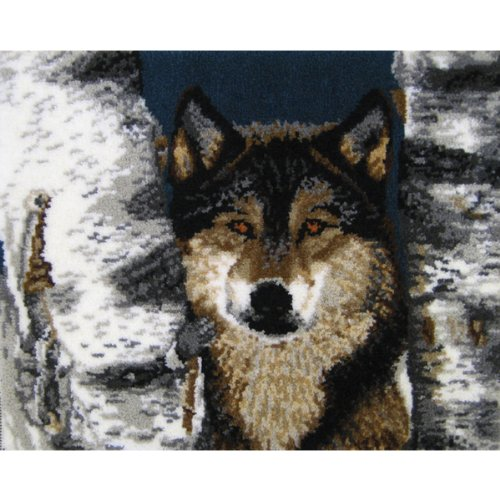MCG Textiles 37679 The Eyes of the Forest Latch Hook Rug Kit
