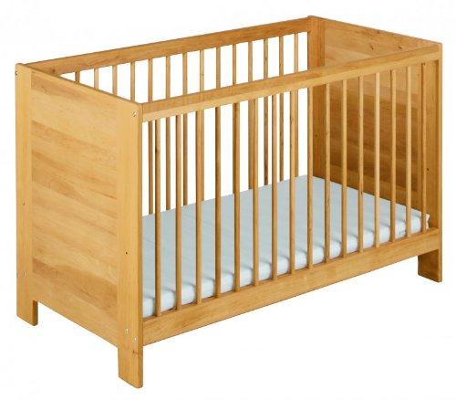 BioKinder 22597 Niklas Babybett Kinderbett aus Massivholz Erle 60 x 120 cm